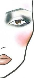макияж для темных глаз