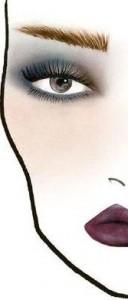 макияж глаз темный
