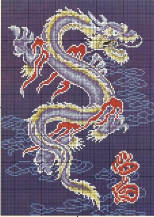 Вышивка дракон схемы бесплатно