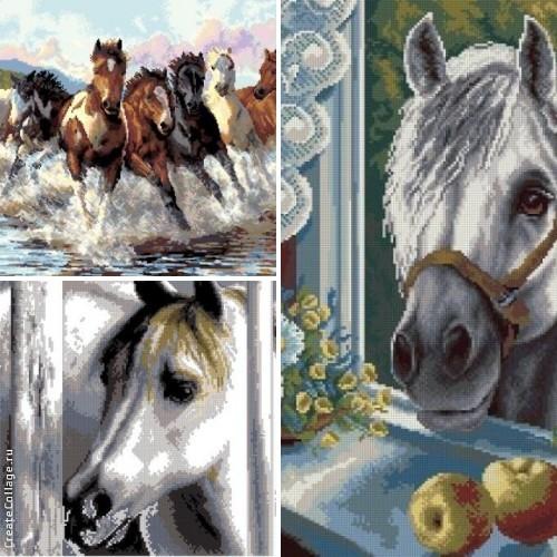 Схемы вышивки лошади крестом