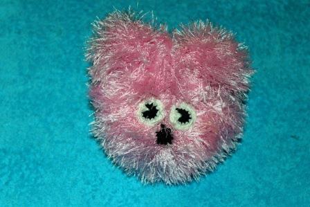 игрушка мишка из пряжи травка