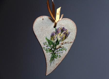 валентинка декупаж с набрызгом