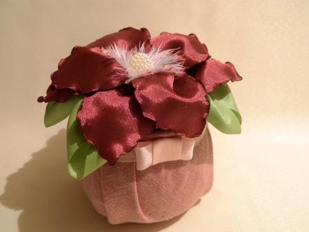 Цветок в технике Канзаши мастер класс