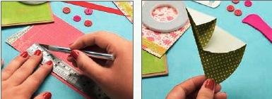 Новогодняя открытка с елочкой как сделатьг