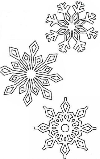 шаблон со снежинками