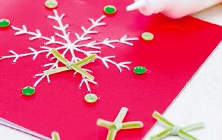 новогодняя открытка снежинка