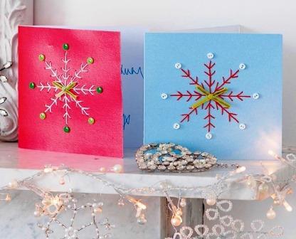 Как сделать простую новогоднюю открытку своими руками мастер класс